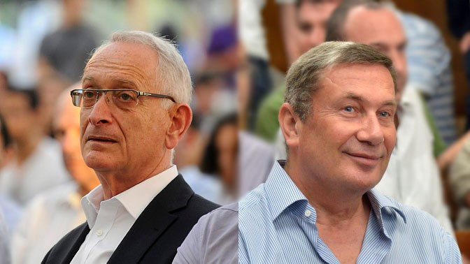 עמוס שוקן (משמאל) ונוחי דנקנר (צילומים: פלאש 90)