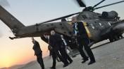"""ראש הממשלה בנימין נתניהו מגיע לשדה בוקר, לטקס זיכרון לדוד בן גוריון, אתמול (קובי גדעון, לע""""מ)"""