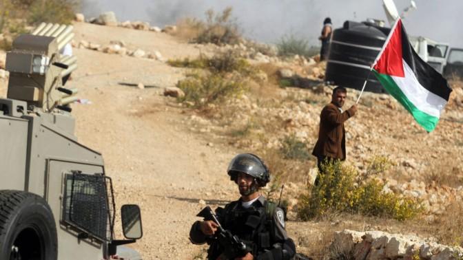 הפגנה בבילעין, 15.11.13 (צילום: עיסאם רימאווי)