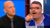 """רני רהב וגיא פלג, """"פגוש את העיתונות"""" בערוץ 2, 16.11.2013 (צילום מסך)"""