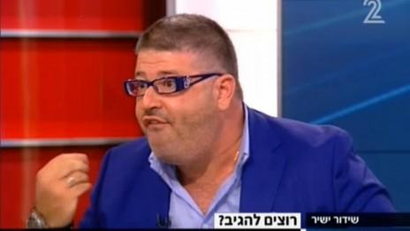 """רני רהב, """"פגוש את העיתונות"""" בערוץ 2, 16.11.13 (צילום מסך)"""