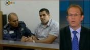 כתב ערוץ 10 אביעד גליקמן מדווח על פרשת דניאל מעוז (צילום מסך)