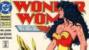 """פרט מתוך עטיפת חוברת הקומיקס """"וונדר וומן - שיר היצירה"""", מרץ 1993, מאייר: בראיין בולנד, הוצאת די.סי קומיקס"""