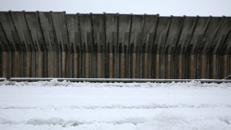 חומת הפרדה, ליד צור-הדסה. 14.12.13 (צילום: נתי שוחט)