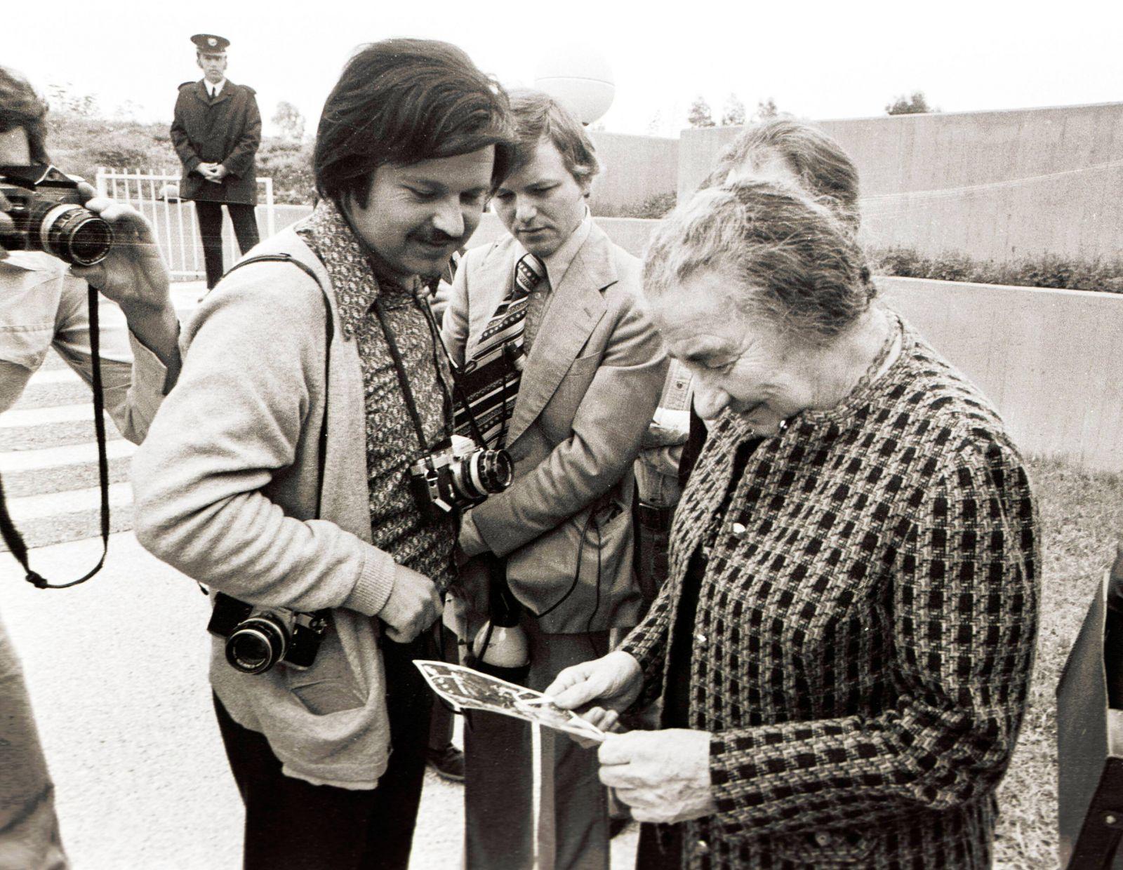 מילנר עם גולדה מאיר, 1976 (צילום: ישראל סימיונסקי, ישראל סאן)