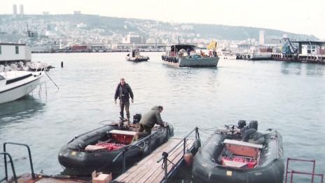 לוחמים ודייגים בקישון (צילום: יהודה הבר)