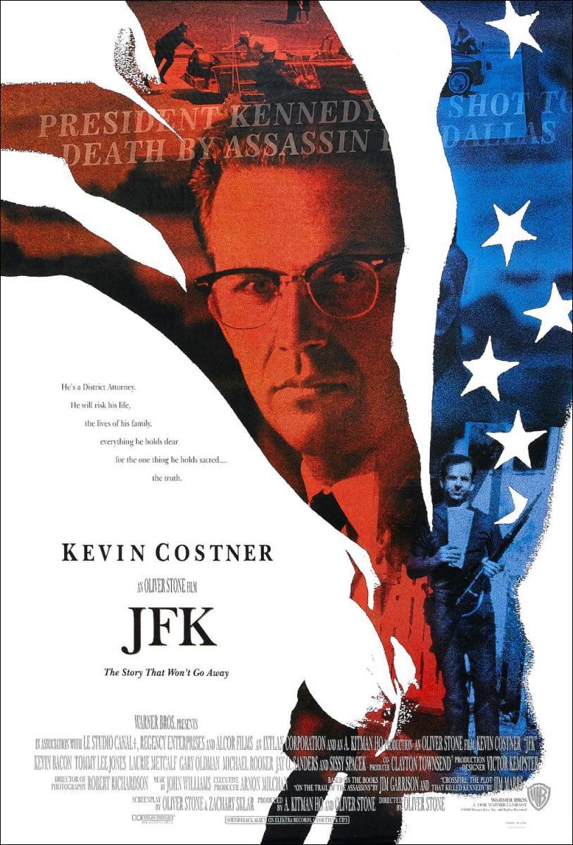"""כרזת הסרט """"JFK"""" של אוליבר סטון"""