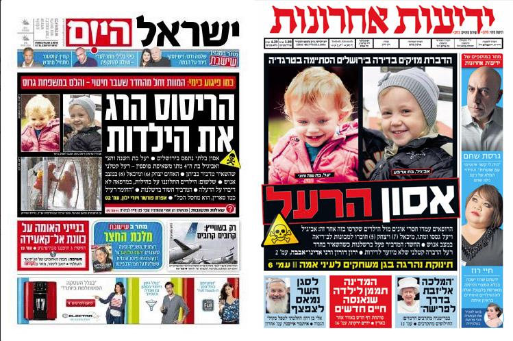 שערי הצהובונים הישראליים, אתמול