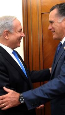 """ראש הממשלה בנימין נתניהו נפגש בירושלים עם מיט רומני, המועמד לנשיאות ארה""""ב מטעם המפלגה הרפובליקאית, 29.7.12 (צילום: אבי אוחיון, לע""""מ)"""