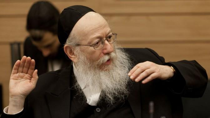 """ח""""כ יעקב ליצמן בוועדת הכלכלה, 16.12.13 (צילום: פלאש 90)"""
