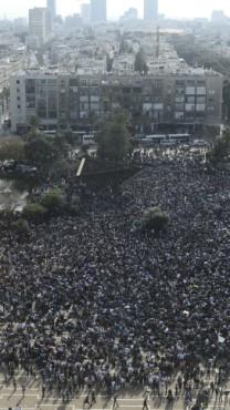 מהגרים מאפריקה מוחים על מדיניות הממשלה נגדם, כיכר רבין בתל-אביב, 5.1.14 (צילום: תומר נויברג)
