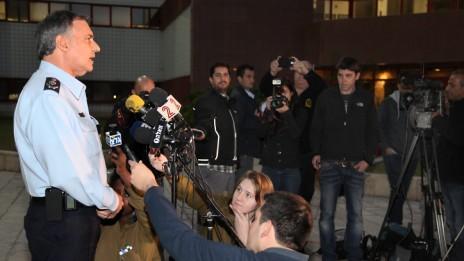 """המפכ""""ל יוחנן דנינו במסיבת עיתונאים, 16.1.14 (צילום: גדעון מרקוביץ')"""