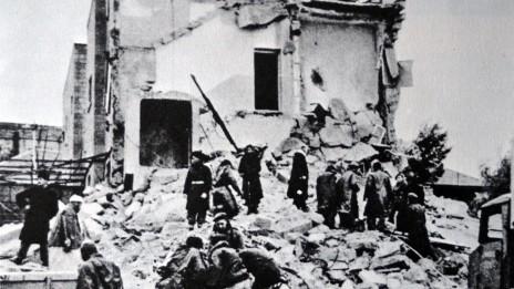 מלון סמירמיס, לאחר שפוצץ על-ידי ההגנה (נחלת הכלל)