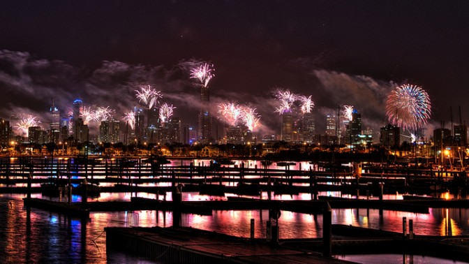 זיקוקים במלבורן לכבוד שנת 2014. צילום: Chris Phutully (cc-by)