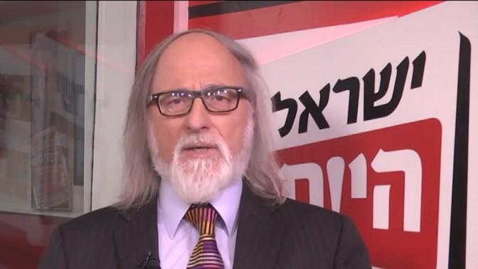 """חיים שיין, פובליציסט """"ישראל היום"""" (צילום מסך)"""