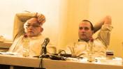 """יו""""ר רשות השידור אמיר גילת (מימין) והמנכ""""ל יוני בן-מנחם (צילום: """"העין השביעית"""")"""
