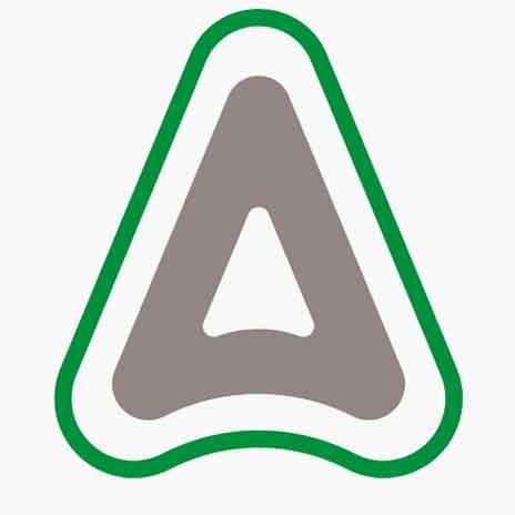 לוגו חברת אדמה לאחר שבעליה הסינים שינו את שמה ממכתשים-אגן