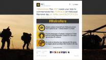 """דובר צה""""ל מזמין גולשים בחשבון הטוויטר שלו לפרסם תמונות שלהם עם ניצולי שואה"""