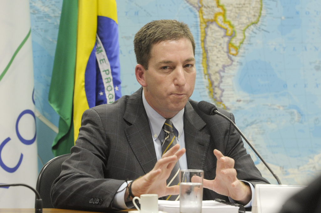 """גלן גרינוולד, חושף מסמכי סנודן, בעת שעבד ב""""גרדיאן"""". ברזיל, אוגוסט 2013 (צילום: ליה דה פאולה, סוכנות סנאדו, רשיון cc-by-nc)"""