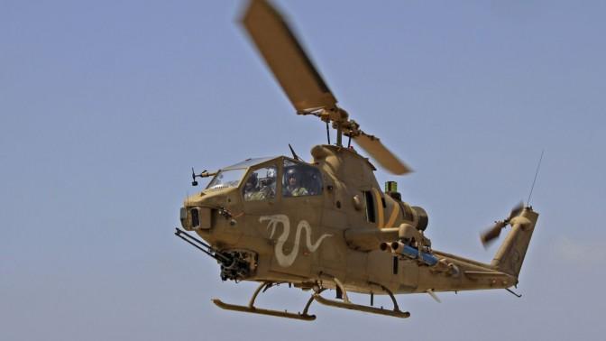 מסוק קוברה של חיל האוויר הישראלי, 28.6.11 (צילום: עופר צידון)