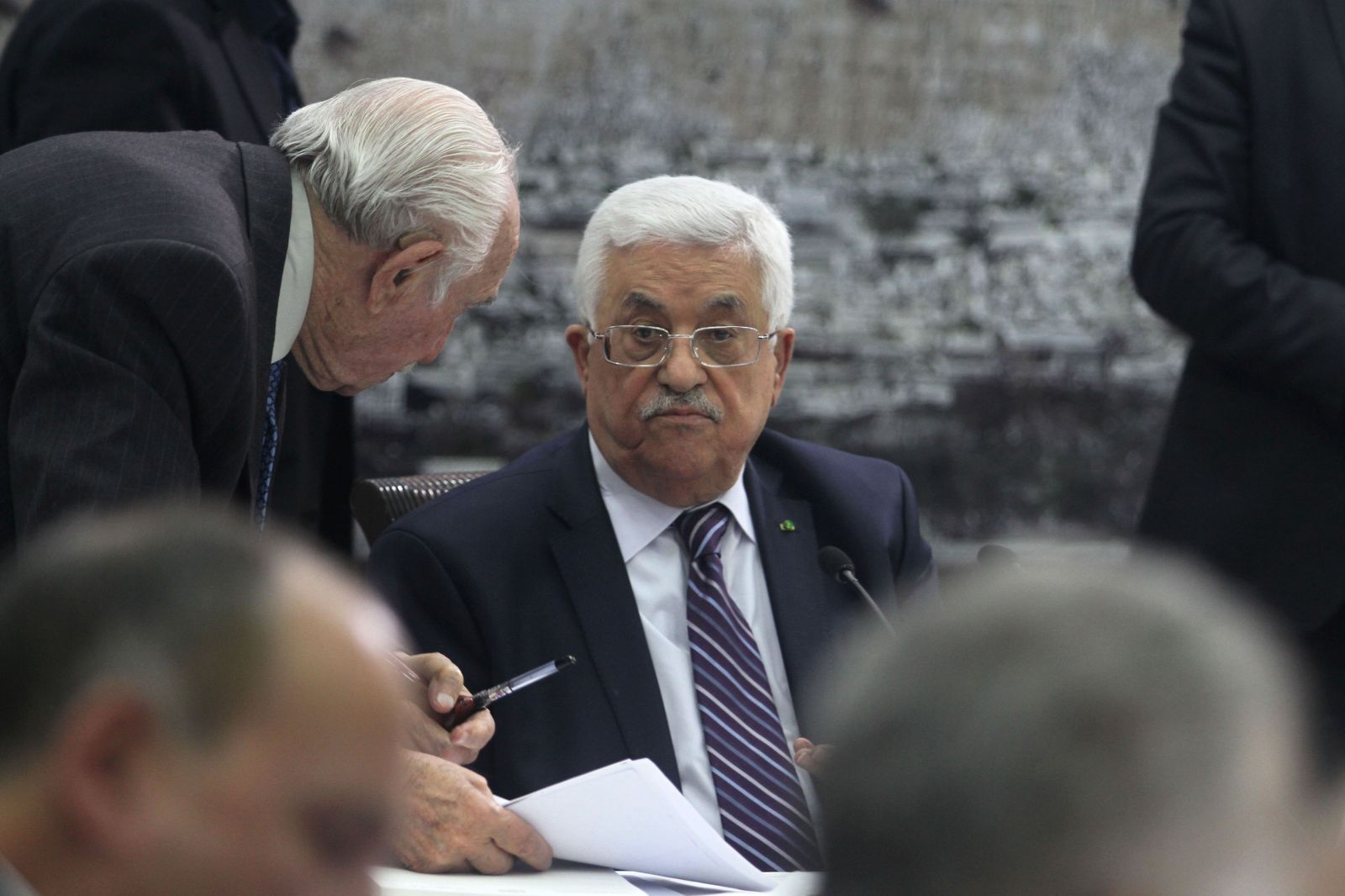 """יו""""ר הרשות הפלסטינית, מחמוד עבאס (אבו-מאזן). רמאללה, 1.4.14 (צילום: עיסאם רימאווי)"""