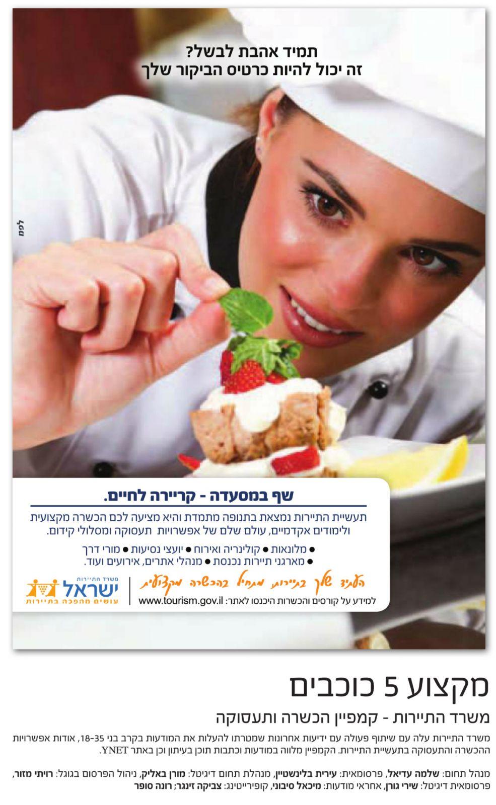 """""""הקמפיין מלווה במודעות וכתבות תוכן בעיתון וכן באתר ynet"""" (מתוך מגזין לפ""""מ)"""