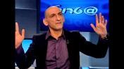 """העיתונאי יהודה נוריאל בתוכנית """"שטרודל"""" בטלוויזיה החינוכית (צילום מסך)"""