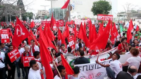צעדת 1 במאי בתל-אביב, 1.5.12 (צילום: רוני שיצר)