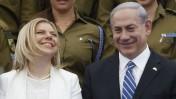 ראש ממשלת ישראל, בנימין נתניהו, ורעייתו שרה. בית הנשיא, 6.5.14 (צילום: מרים אלסטר)