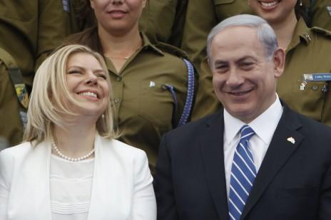 ראש ממשלת ישראל בנימין נתניהו ורעייתו שרה. בית הנשיא, 6.5.14 (צילום: מרים אלסטר)
