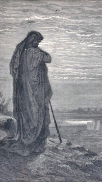 תחריט של גוסטב דורה המתאר את הנביא עמוס, 1865 (נחלת הכלל)