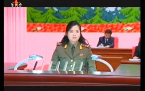 """היון סונג-וול נושאת את הנאום ש""""הוכיח"""" כי לא הוצאה להורג, 16.5.14 (צילום מסך)"""