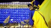 חגיגות ניצחון מכבי תל-אביב באליפות אירופה בכיכר רבין בתל-אביב, 18.5.14 (צילום: אמיר לוי)