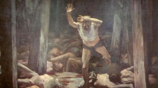"""""""היהודי הנודד"""", שמואל הירשנברג, 1900"""