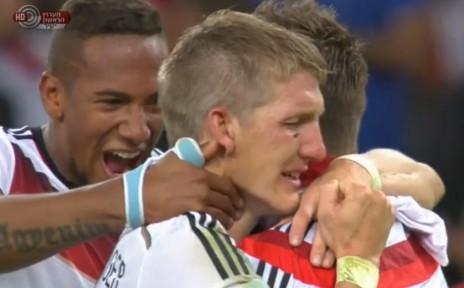 גרמניה זוכה במונדיאל (צילום מסך: הערוץ הראשון)