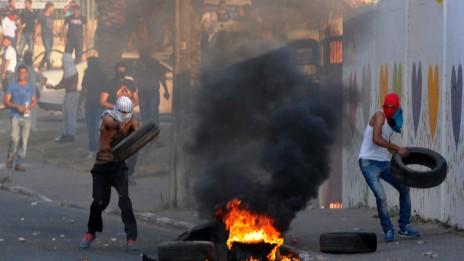 הפגנה בוואדי ערה, 4.7.14 (צילום: איציק ברבי)