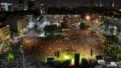 עצרת המונים בהשתתפות הורי הנערים החטופים, כיכר רבין בתל-אביב, 29.6.14 (צילום: מנדי הכטמן)