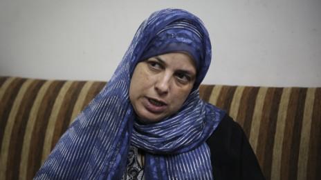 סוהא, אמו של הנער מוחמד אבו-חדיר, 2.7.14 (צילום: הדס פרוש)