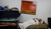 """מקלט באשקלון, ערב כניסת צה""""ל לעזה, 18.7.14 (צילום: מרים אלסטר)"""
