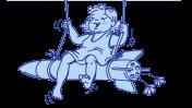 """איור: ארנון אבני. פרט מאיור על חולצה שהוכנה לקראת חזרת התושבים לקיבוץ עם סיום מבצע """"צוק איתן"""", אוגוסט 2014"""