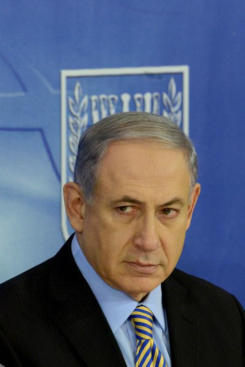 """ראש הממשלה בנימין נתניהו, 10.8.14 (צילום: קובי גדעון, לע""""מ)"""