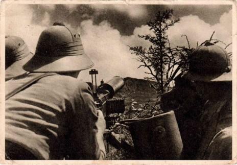 חיילים איטלקים נלחמים באתיופיה, 1936 ( נחלת הכלל)