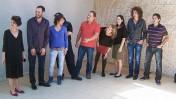 """חברי ועד הפעולה הכללי של ארגון העיתונאים בישראל מכריזים על הקמת ועדים בכלי התקשורת, 23.4.2011 (צילום: """"העין השביעית"""")"""