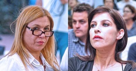 עיתונאיות השידור הציבורי גאולה אבן (מימין) ואיילה חסון (צילומים: רוני שיצר וגדעון מרקוביץ')