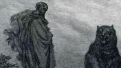 אלישע ואחת משתי הדובים, תחריט של גוסטב דורה (פרט), 1866