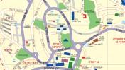 """רחוב מעגלי הראי""""ה במרכז היישוב בית-אל, כפי שהוא מופיע במפה באתר המועצה המקומית"""