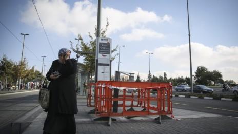 זירת פיגוע בירושלים, 23.10.14 (צילום: הדס פרוש)