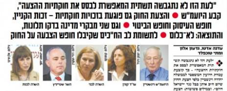 """""""וגם שני מבקרי מדינה בדקו תלונות"""", """"ישראל היום"""", 3.11.14"""