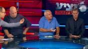 """""""יציע העיתונות"""" השבוע, מימין: בוני גינצבורג, שלמה שרף, רון קופמן וניב רסקין (צילום מסך)"""