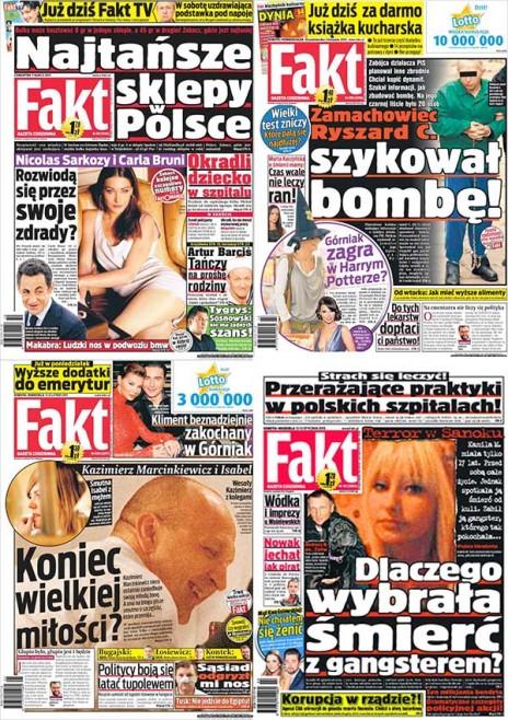 """Fakt"", שערי הטבלואד הפולני"